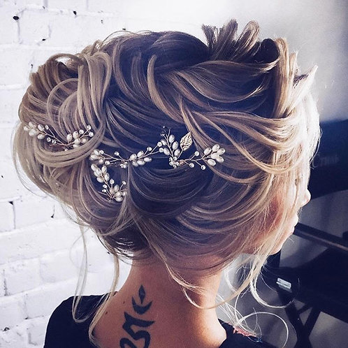 Passionate Silver Hair Pins