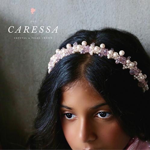 The Caressa pink girls headband - Sienna Likes to Party
