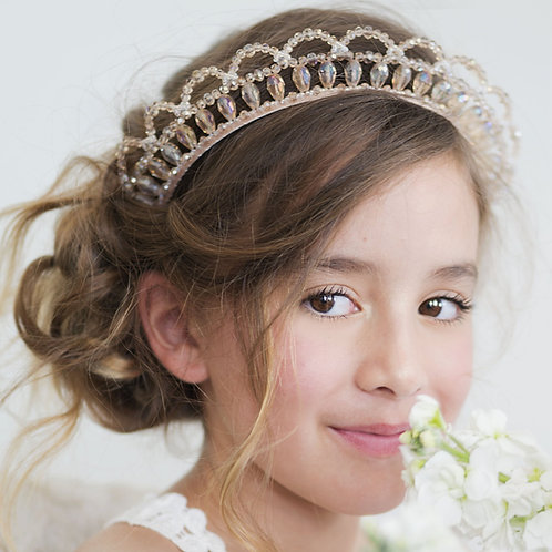The Victoriana Crown Designer Girls Headband - Sienna Likes to Party