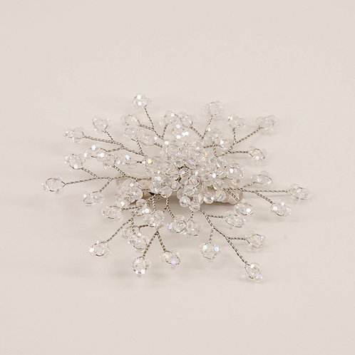 The Emmaline Crystal Flower Hair Clip - Sienna Likes to Party