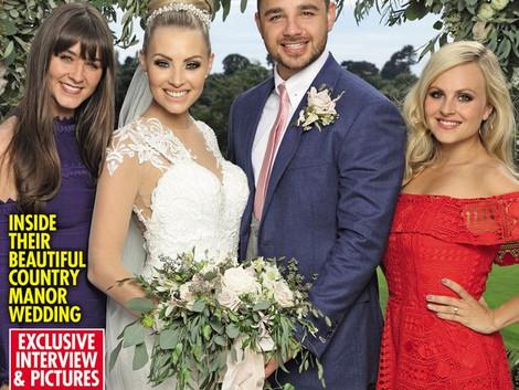 Front cover of OK magazine with Caroline Thomas's wedding !!!!!