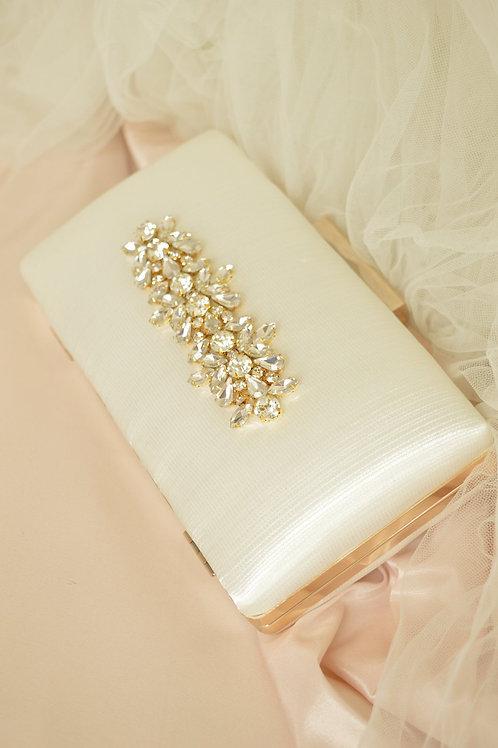 Gold April Clutch Bag