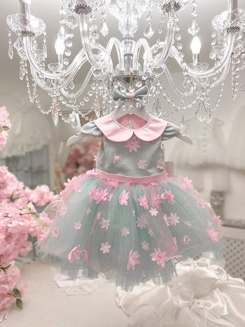 Mint & Flowers Dress - In Stock
