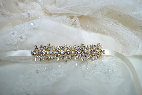 April Gold Bridal Belt/Sash