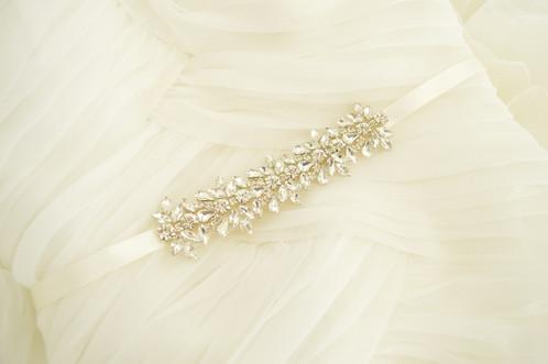 April Silver Bridal Belt/Sash