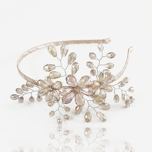 The Fantasia Blush Crystal Luxury Girls Headband - Sienna Likes to Party