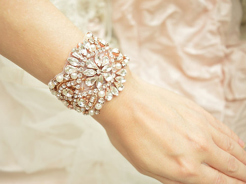 Alexa Rose Gold Bridal Cuff