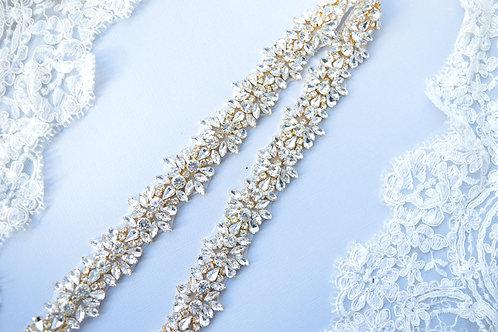April Gold Bridal Sash
