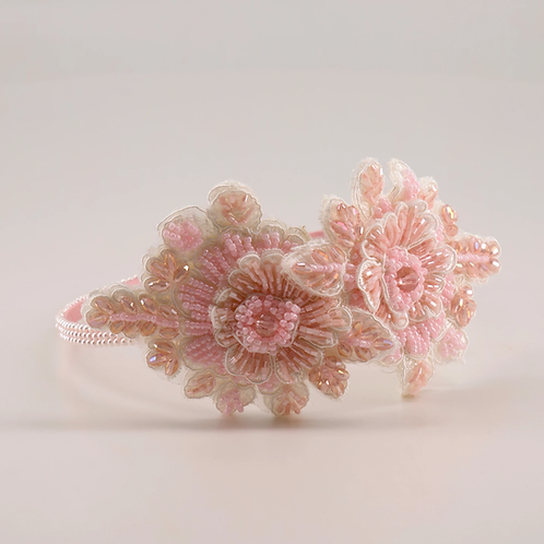 The Miss Sofia Pink Crystal Flower Designer Headband - Sienna Likes to Party