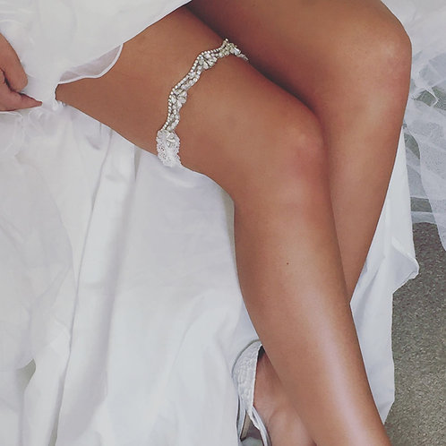 Opal Lace Bridal Garter