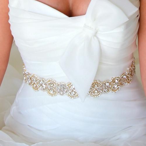 Boston Gold Bridal Sash
