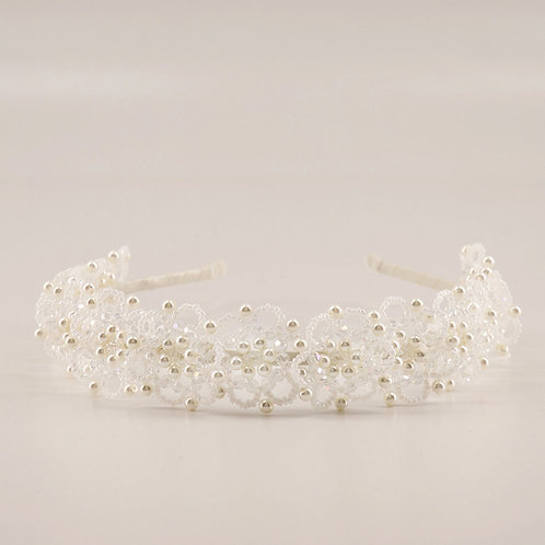 The Luna Crystal and Pearl Designer Girls Headband - Sienna Likes to Party