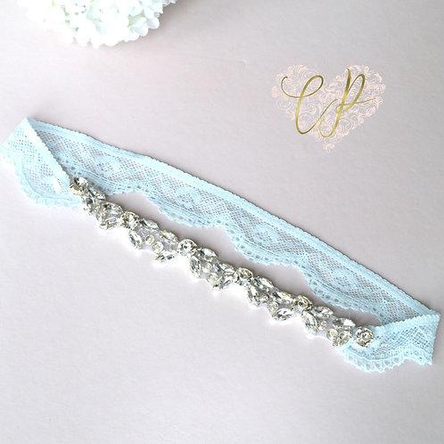 Bridal Elegance Blue Garter - Blue Lace