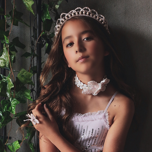 The Halo Champagne Pearl Designer Tiara Headband - Sienna Likes to Party