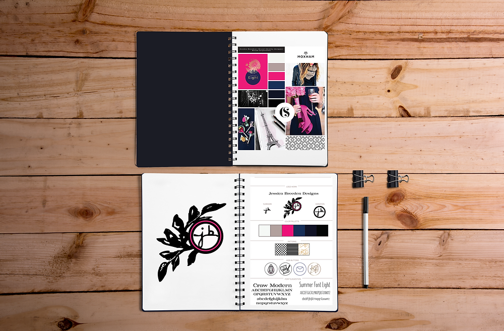 This is an example of my branding for jessica breeden designs