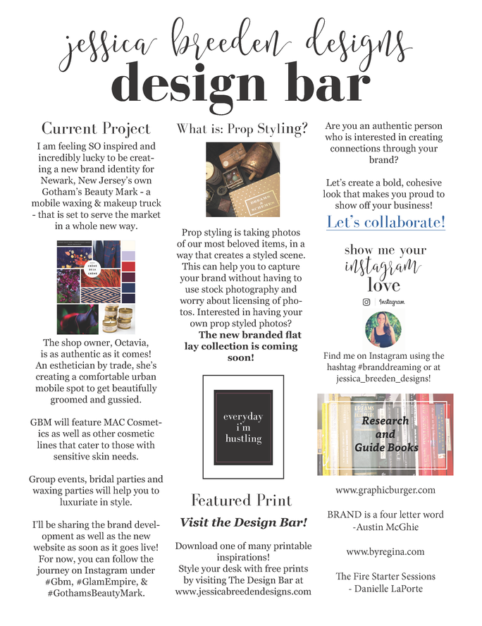 JBD Monthly Design Bar