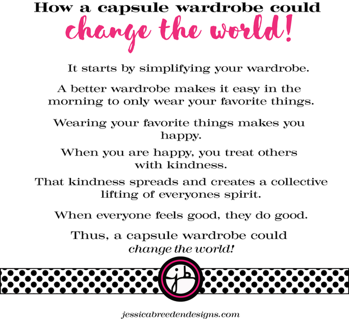 How a capsule wardrobe could change the world!