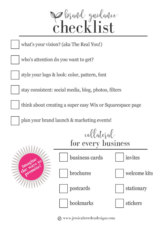Brand guidance checklist