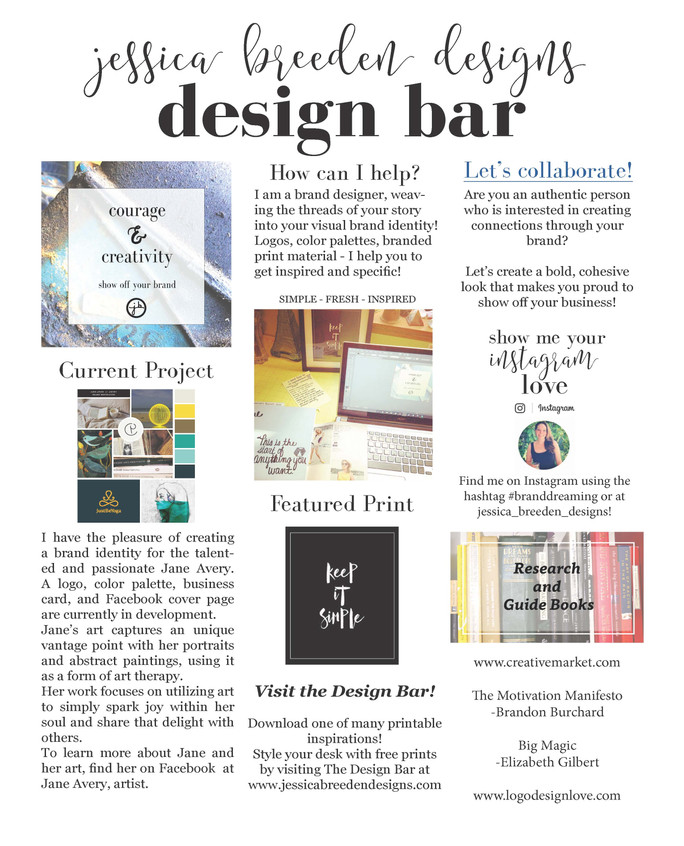 JBD Monthly Design Bar