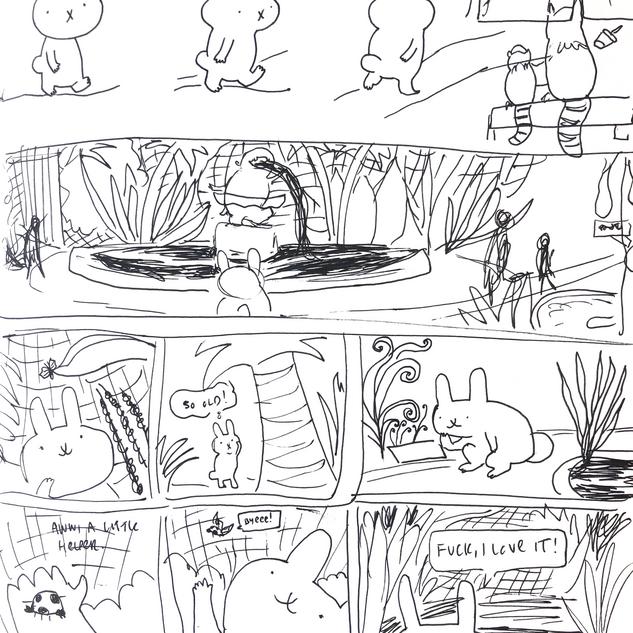 Sober Rabbit - ink sketch