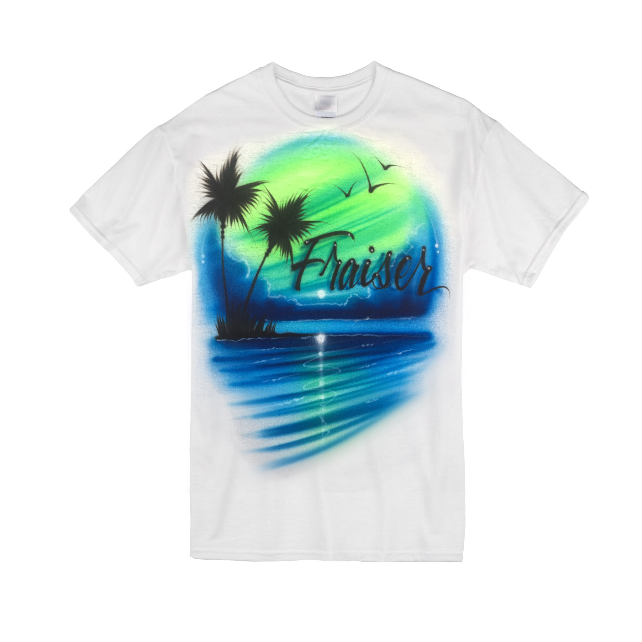 Blue green beach Tshirt