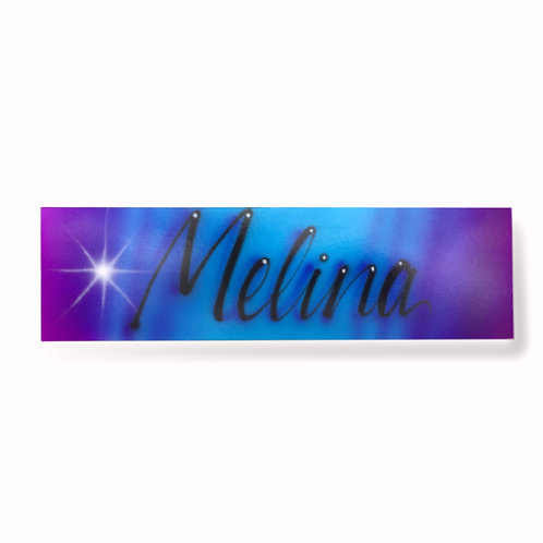 Script name door sign