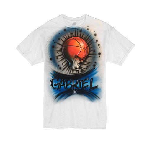 Skull basketball Tshirt
