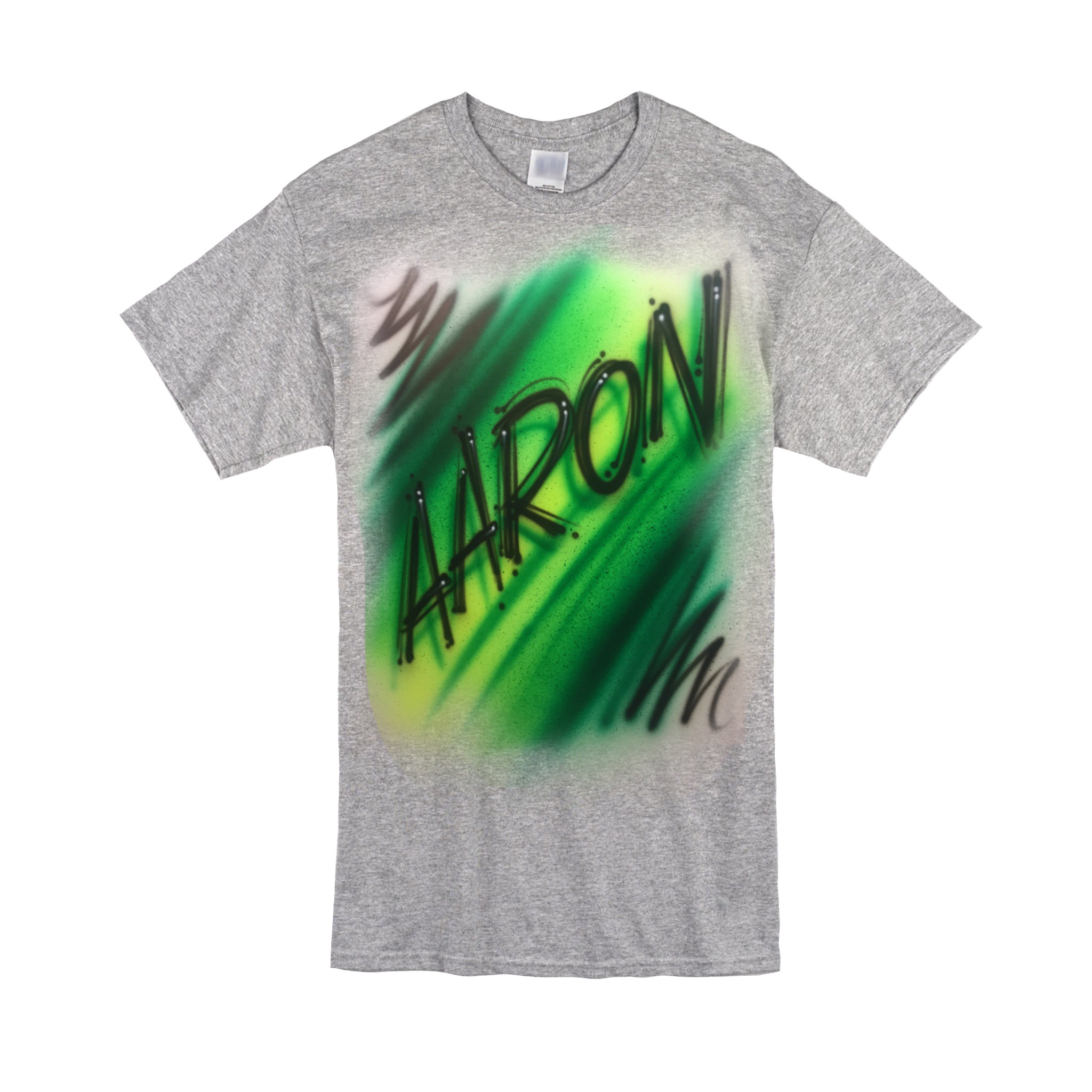 Scratch diagonal greens Tshirt
