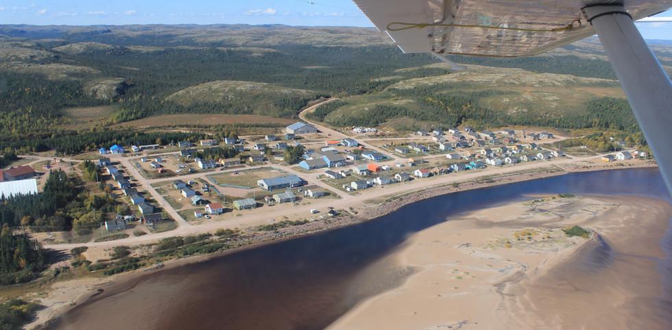 Vue aérienne de Pakua Shipi