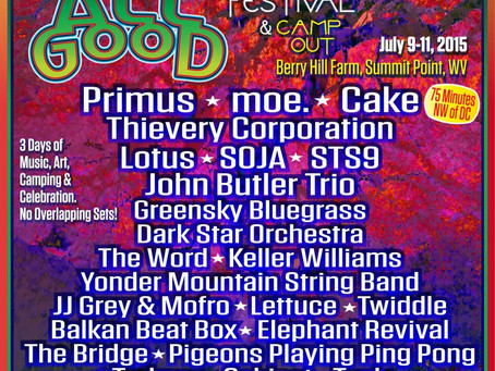 All Good Announces 2015 Lineup: Primus, moe., Thievery, STS9, Lotus, Greensky, Yonder +more