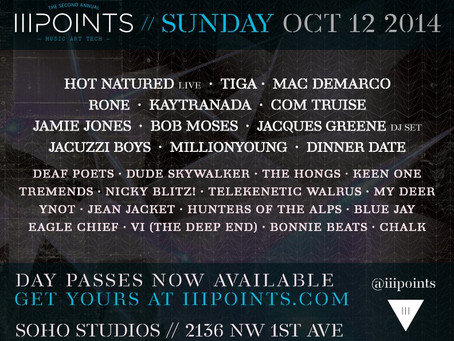 iii Points Festival in Miami Releases Daily Lineups