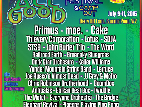 All Good Rounds Lineup Off With Railroad Earth, JRAD, Boombox, Antibalas, Chris Robinson +more