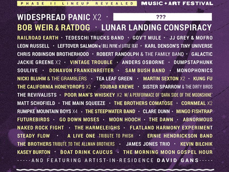 Phases of the Moon adds Bob Weir & Ratdog, Railroad Earth, Kung Fu + more