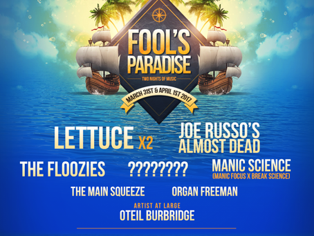 Fool's Paradise Announces Lineup for Year 2