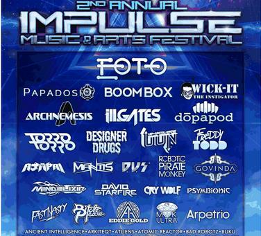 IMPULSE Music & Arts Festival Announces 2013 Lineup: EOTO, Papadosio, ill.Gates, Boombox, more