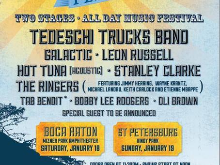 Sunshine Music & Blues Festival: Tedeschi Trucks, Galactic Mini-fest Florida Run