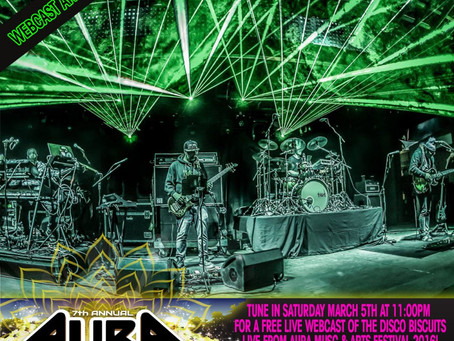 AURA Offering FREE Disco Biscuits Stream, Discounted 2-Day Tickets