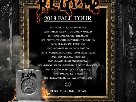 RL Grime 2013 Fall Tour Dates