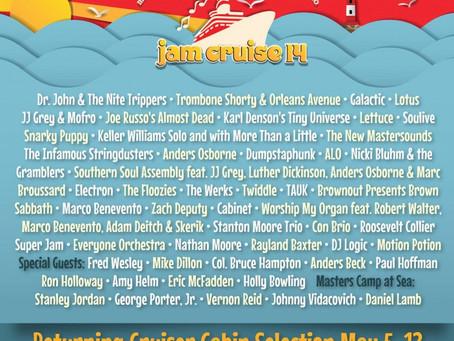 Jam Cruise 14 Lineup: Dr. John, Lotus, JRAD, Galactic, Soulive, Lettuce +more