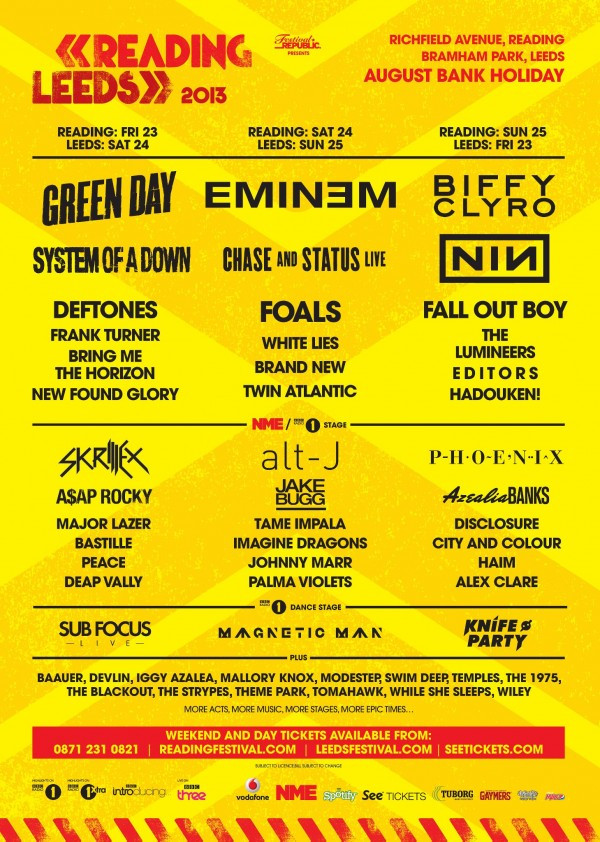 Reading-Music-Festival-2013-lineup