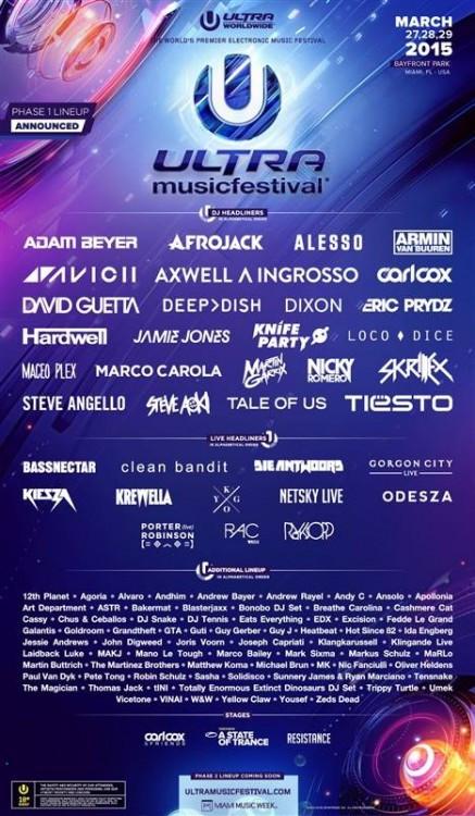 ultra 2015 lineup