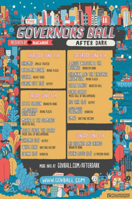 Gov Ball After Parties 2015