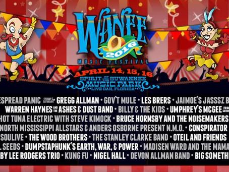 Wanee Announces 2016 Lineup: Widespread Panic x2, Umphrey's McGee x2, Gregg Allman, Billy &#03