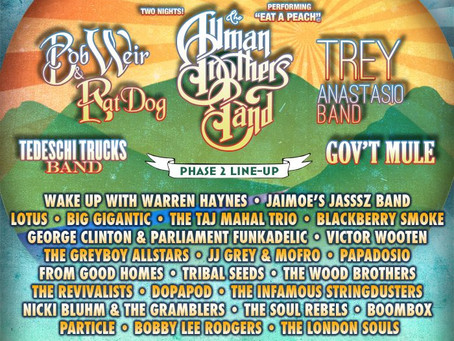 Peach Music Festival Announces 2nd Round Artists