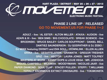 Detroit's Movement Electronic Music Festival Announces Second Phase