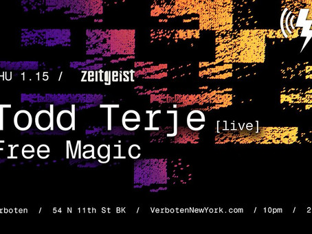 Todd Terje [Live] Coming to Verboten on Thursday
