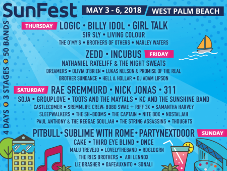 SUNFEST 2018 LINEUP! Including Incubus, Ice Cube, 311, and more