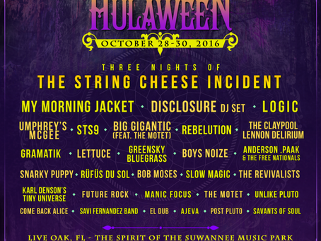 Suwannee Hulaween Announces 2016 Lineup: My Morning Jacket, Disclosure, STS9, Umphrey's +more