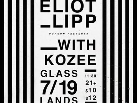 SHOW PREVIEW: Eliot Lipp @ Glasslands [Brooklyn, NY]