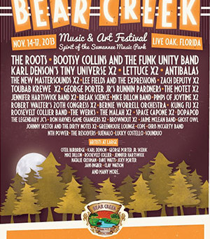 Bear Creek Music & Arts Festival Announces Daily Line-up
